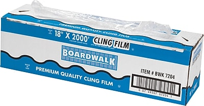 Boardwalk PVC Food Wrap Film Roll, 18