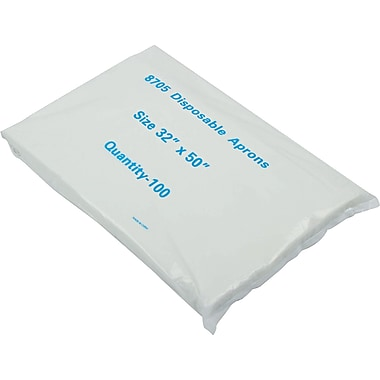 Boardwalk® 390 Polypropylene Disposable Apron, White