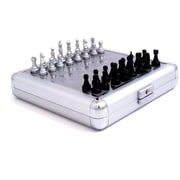 Bey-Berk Stainless Steel  Magnetic Travel Chess and Backgammon Set