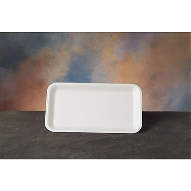 Genpak® 17SWH Supermarket Tray, White, 1/2