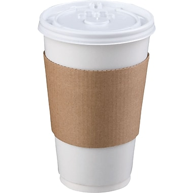 LBP Coffee Clutch® 6106 Hot Cup Sleeve For 20 oz. Hot Cup, Brown, 1200/Case
