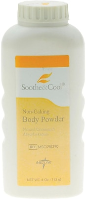 Soothe & Cool® Cornstarch Body Powders, 4 oz, 36/Pack