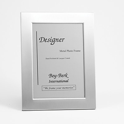 Bey-Berk SF82-11 Brushed Metal Picture Frame, 5