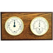 Bey-Berk Brass and  Oak Tide Clock/Thermometer/Hygrometer