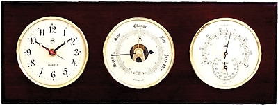 Bey-Berk Brass/Mahogany Clock With Baro