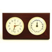 Bey-Berk Brass/Mahogany Tide and Time Clock