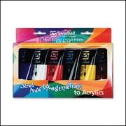 Speedball – Ensemble de base de peinture acrylique, 6 couleurs