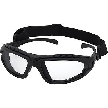 Dentec Hornet Foam-Lined Black Frame Safety Glass, Clear Lens