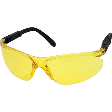 Dentec Citation 932 Safety Glasses Series Eyewear with Ratchet and Adjustable Temples, Yellow Lens