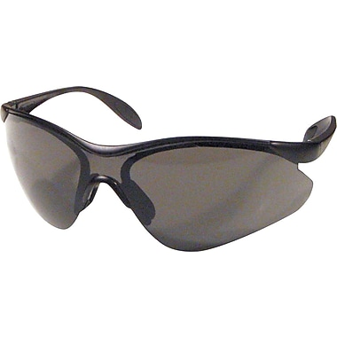 Dentec Citation 937 Safety Glasses Series Eyewear Black Frame with Paddle Temples, Grey Lens