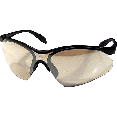 Dentec Citation 937 Safety Glasses Eyewear Black Frame with Paddle Temples, Indoor/Outdoor Lens