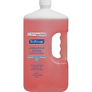 Softsoap Antibacterial Hand Soap, Crisp and Clean, Refill, 1 Gallon