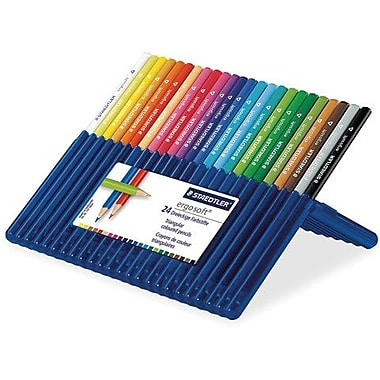 Staedtler Ergosoft Coloured Pencils, 24 Assorted Colours