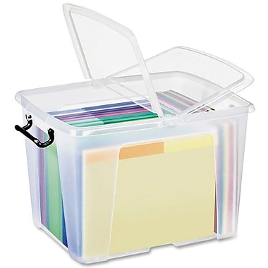 Greenside Group Smart Box for Office Materials Storage, Clear, Large