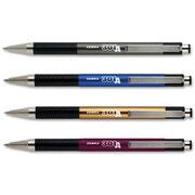 Zebra 301A Retractable Ballpoint Pens, Fine Point, Black Ink