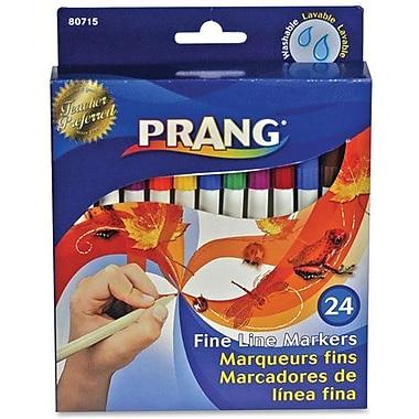 Prang Washable Fineline Marker Set, 24 Assorted Colours