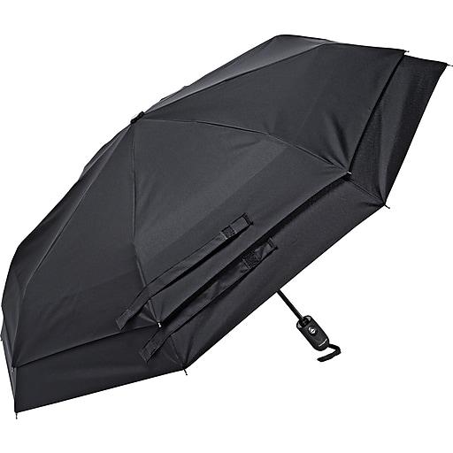 Samsonite Windguard Automatic Open/Close Umbrella, Black