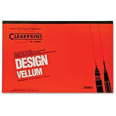 Chartpak® ClearPrint Plain Vellum Pad, 16 lb, 11