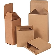"2.5"" x 1.75"" x 4"" Reverse Tuck Folding Cartons, Brown, 500/ Carton (RTD2)"