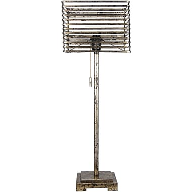 Fangio Antique Silver Metal Table Lamp