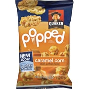 Quaker® Popped Rice Snacks, Caramel Corn, .91 oz. Bags, 60 Bags/Carton