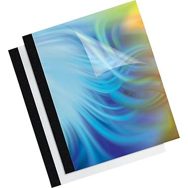 Couvertures de présentation thermiques - 3/8 po, paq./10, noir