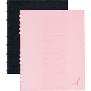 "Blueline® Notepro Pink Ribbon Hardcover Notebooks, 9-1/4"" x 7-1/4"", Pink Ribbon Collection, 150 Pages"