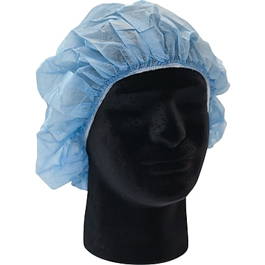priMED Disposable Bouffant Cap, X-Large, Blue