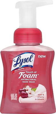 Lysol® Touch of Foam Antibacterial Hand Soap, Rose & Cherry 8.5 oz.