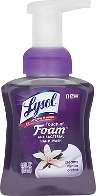 Lysol® Touch of Foam Antibacterial Hand Soap, Creamy Vanilla Orchid, 8.5 oz.