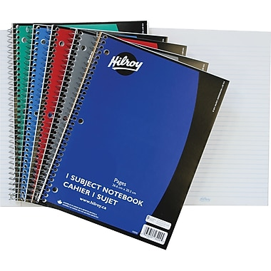 Hilroy 1-Subject Notebooks, 10-1/2