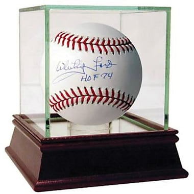 Whitey Ford Hand Signed MLB Baseball with HOF inscription