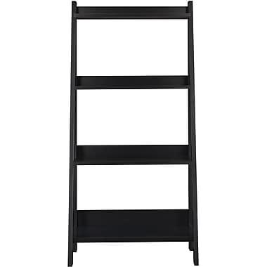 Bush Furniture Alamosa Ladder Bookcase, Classic Black