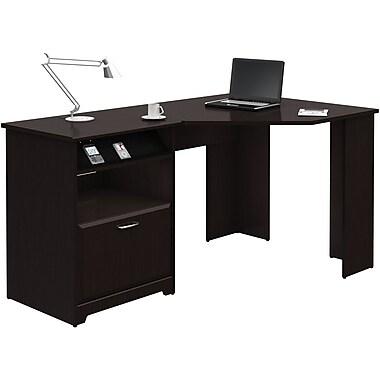 Bush Furniture Cabot Collection Corner Desk, Espresso Oak (WC31815-03)
