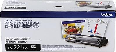 Brother Genuine TN221BK Black Original Laser Toner Cartridge