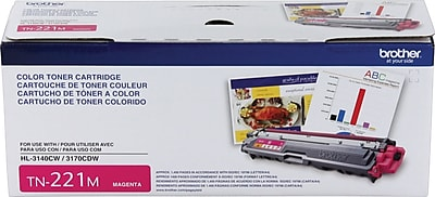Brother Genuine TN221M Magenta Original Laser Toner Cartridge