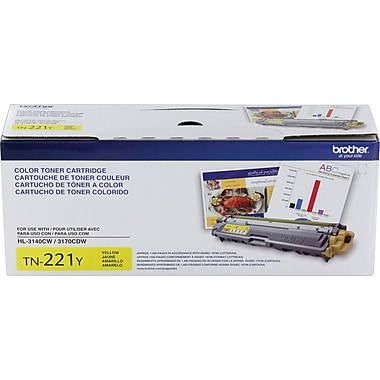 Brother – Cartouche de toner jaune TN221 (TN221Y)