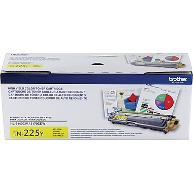 Brother TN225 Yellow Toner Cartridge, High Yield (TN225Y)