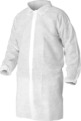 KleenGuard® A10 Light-Duty White Lab Coat, Snap Front, Extra-Large