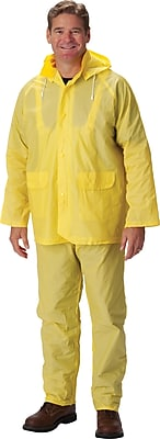 Falcon 3-Piece Rainsuit With Jacket, Yellow, Extra Large, .25mm, PVC Fabric