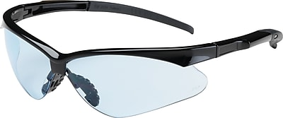 Bouton Optical Adversary Safety Glasses, Black Frame, Light Blue Lens, Antiscratch Coating