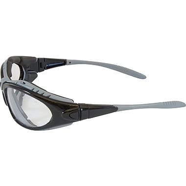 Bouton Optical Fuselage Dust Safety Goggles, Black Frame, Clear Lens, Antifog & Antiscratch Coating