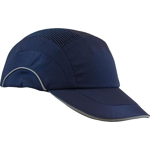 "Hardcap A1+ Bump Cap, Baseball Style, 2.75"" Brim, Slide-Lock Adjustment, Navy Blue, Non-ANSI"
