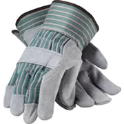 PIP Work Gloves, Split Leather With Safety Cuffs, Large, Multi-Colored, 12 Pairs