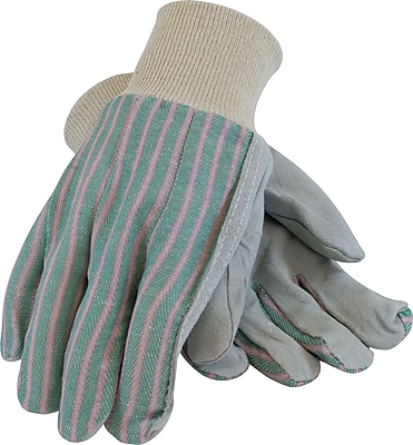 PairsoteCartonive Industry PairsoduCartons Work Gloves, Cowhide Leather With Knitwrists, Large, Multi-Colored, 12 Pairs