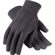 PairsoteCartonive Industry PairsoduCartons Work Gloves, Cotton Jersey With Knitwrists, One Size, Brown, 12 Pairs
