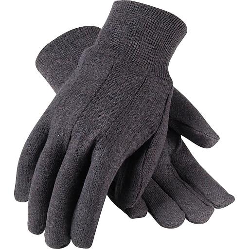 PIP® Knit Work Gloves, Cotton Jersey With Knit Wrists, One Size, 1 Dozen