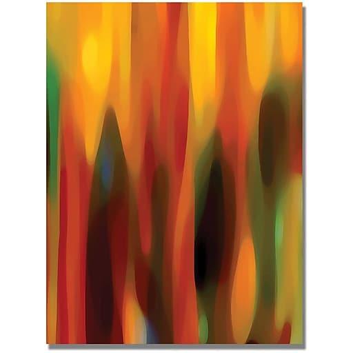 """Trademark Global Amy Vangsgard """"Forest Sunlight Vertical"""" Canvas Art, 47"""" x 35"""""""