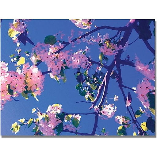 "Trademark Global Amy Vangsgard ""Pink Flowering"" Canvas Art, 35"" x 47"""