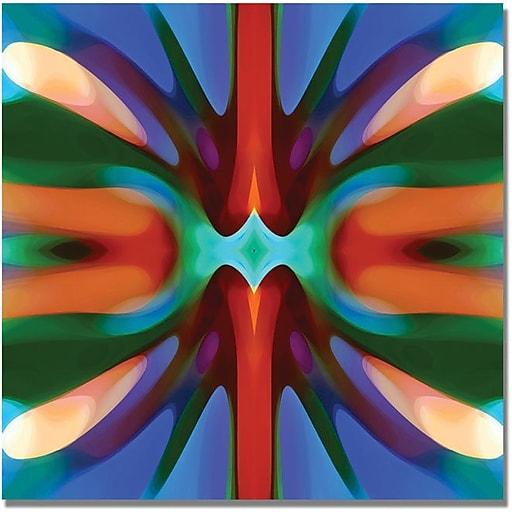 "Trademark Global Amy Vangsgard ""Tree Light Symmetry Blue Green"" Canvas Art, 24"" x 24"""